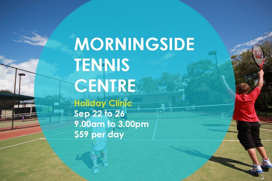 September school holiday  tennis clinic at the Morningside Tennis Centre in Brisbane