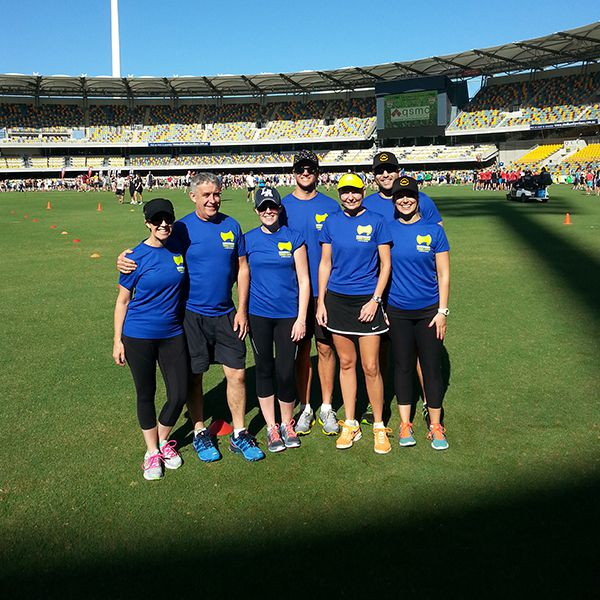 The Morningside crew at the World's Largest PT Session