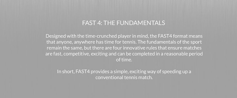 Fast4 Tennis comes to the Morningside Tennis Centre