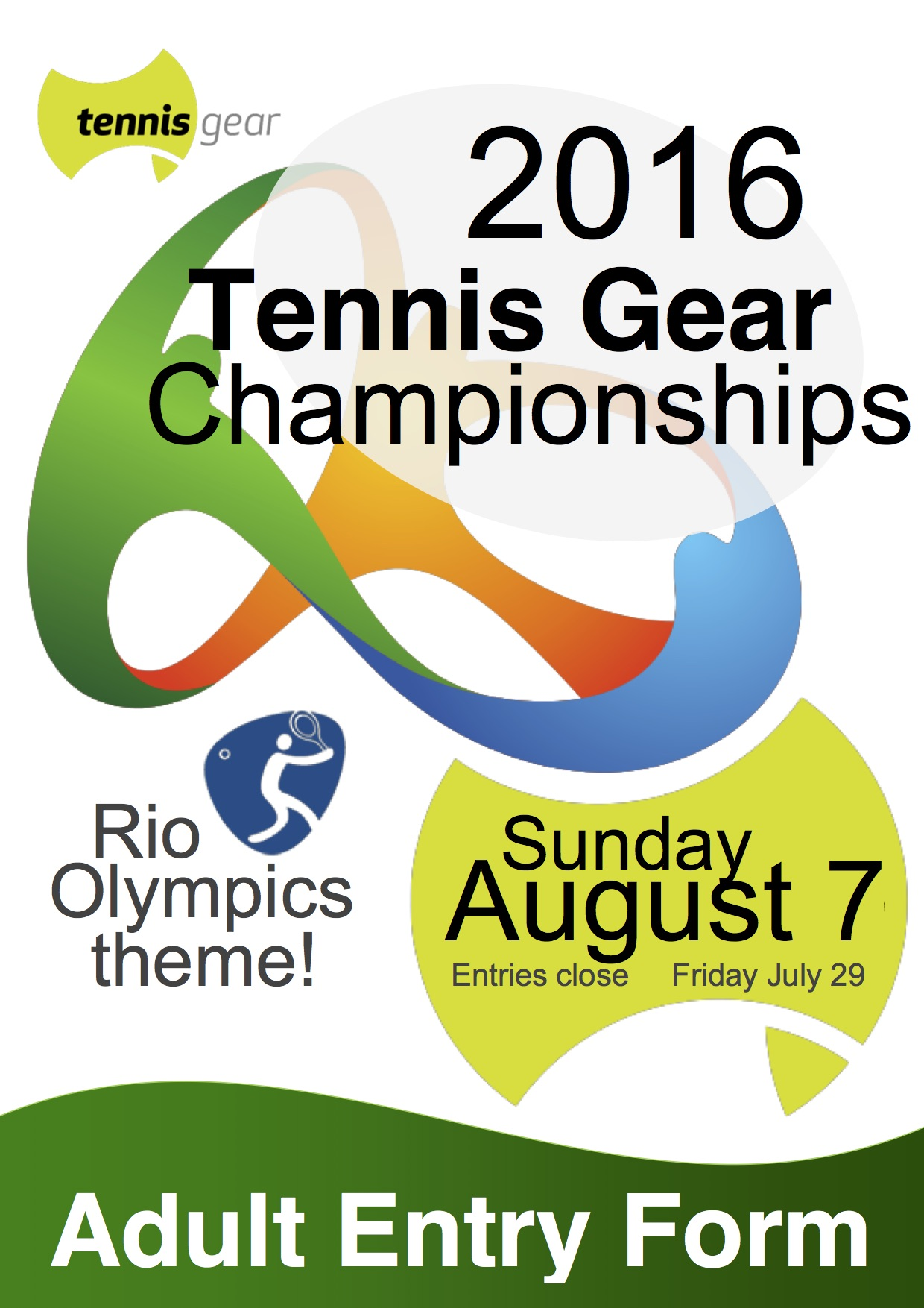 2016 TG Championships Flyer and Entry Adult