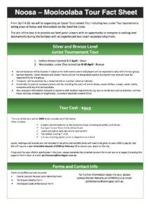 Tour Fact Sheet - Noosa and Mooloolaba
