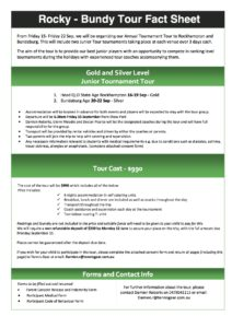 Tour Fact Sheet - Rocky and Bundy