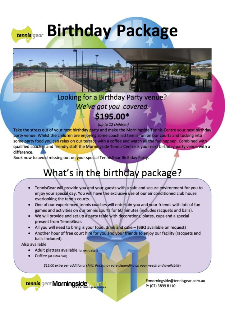 Morningside Birthday Package