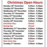 Christmas Open Hours Dev 17
