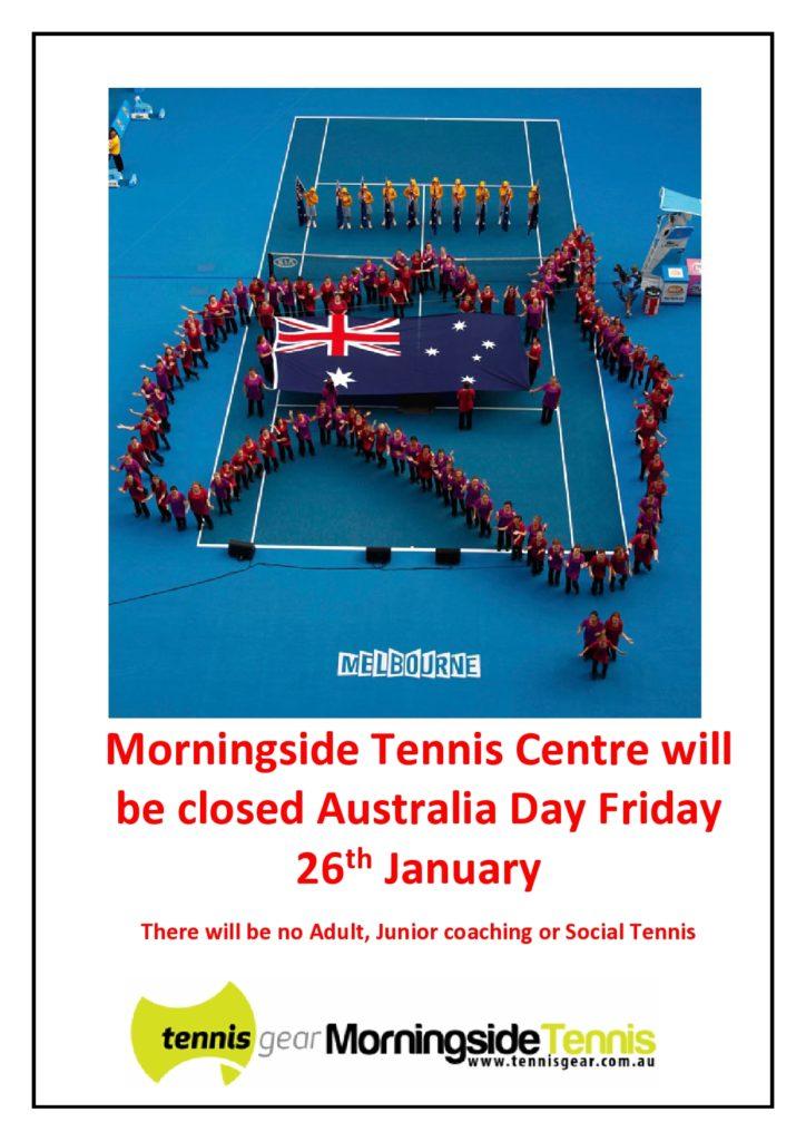 Aus Day Closed 2018