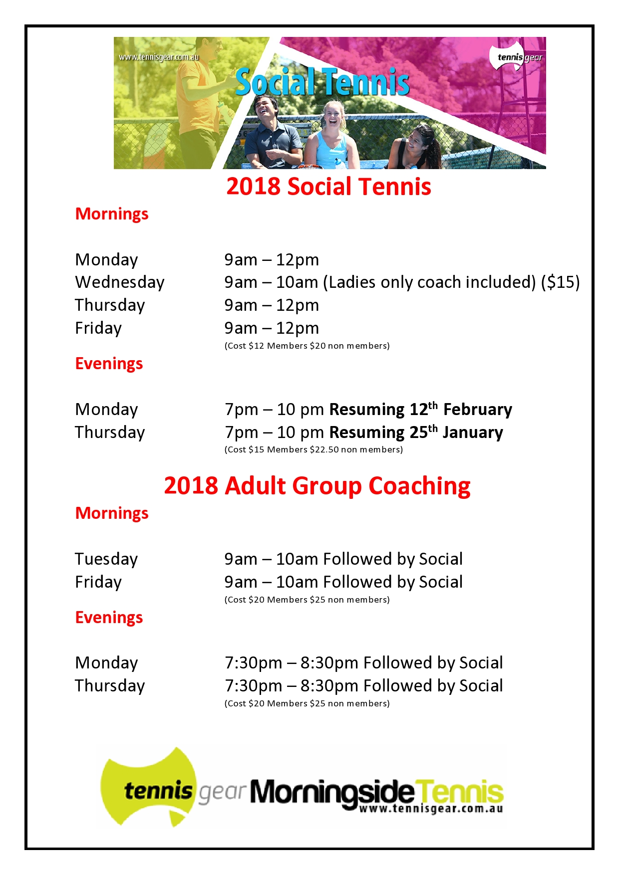 New Adult Social and Adult times 2018
